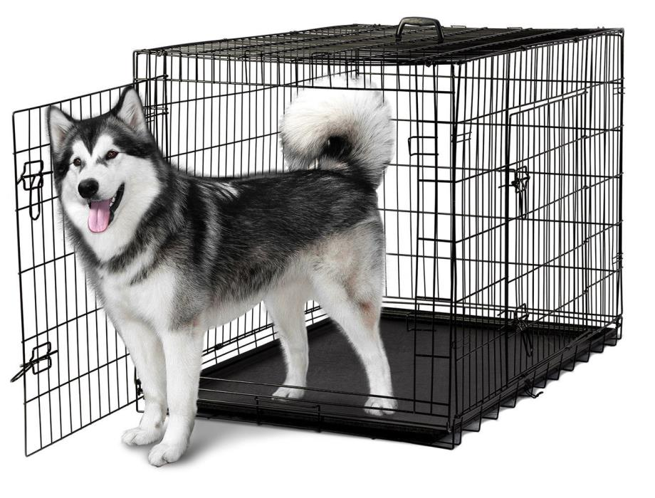 OxGord Pet Kennel Cat Dog Folding Steel Crate Animal Playpen Wire Metal Cage 48