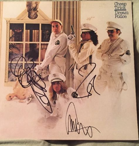 Cheap Trick Signed Album Dream Police X3 Members