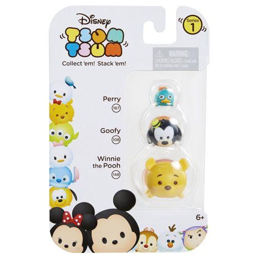 Disney Tsum Tsum 3-Pack Figures: Pooh/Goofy/Perry