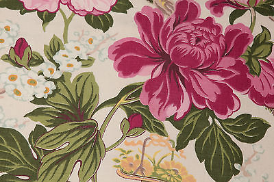 Vintage 40s 50s Cotton Fabric Sewing Quilting NOS Gorgeous 1 YD 22