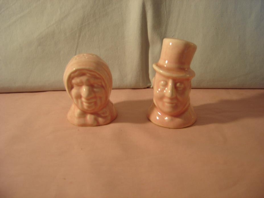 Vintage 1940's Man & Woman Busts Salt & Pepper Shakers - Made in Japan