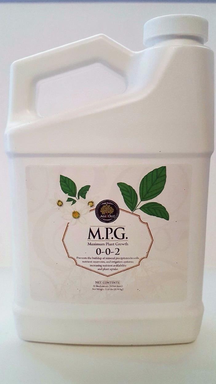 Age Old Organics MPG Quarts & Gallons