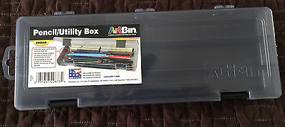NEW ArtBin Pencil/Utility Storage Box- Charcoal Container, 6900AB Art Supply Box