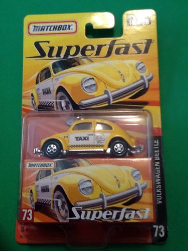 Matchbox Superfast Volkswagen Beetle Taxi Cab # 73  NEW IN PACKAGE 1 of 15500