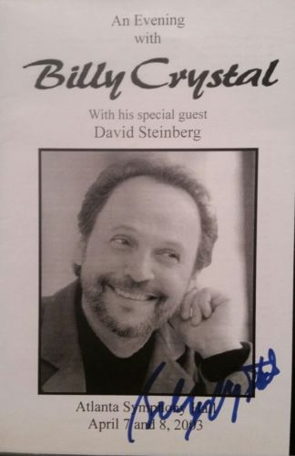 Billy Crystal signed booklet Atlanta Symphony Hall