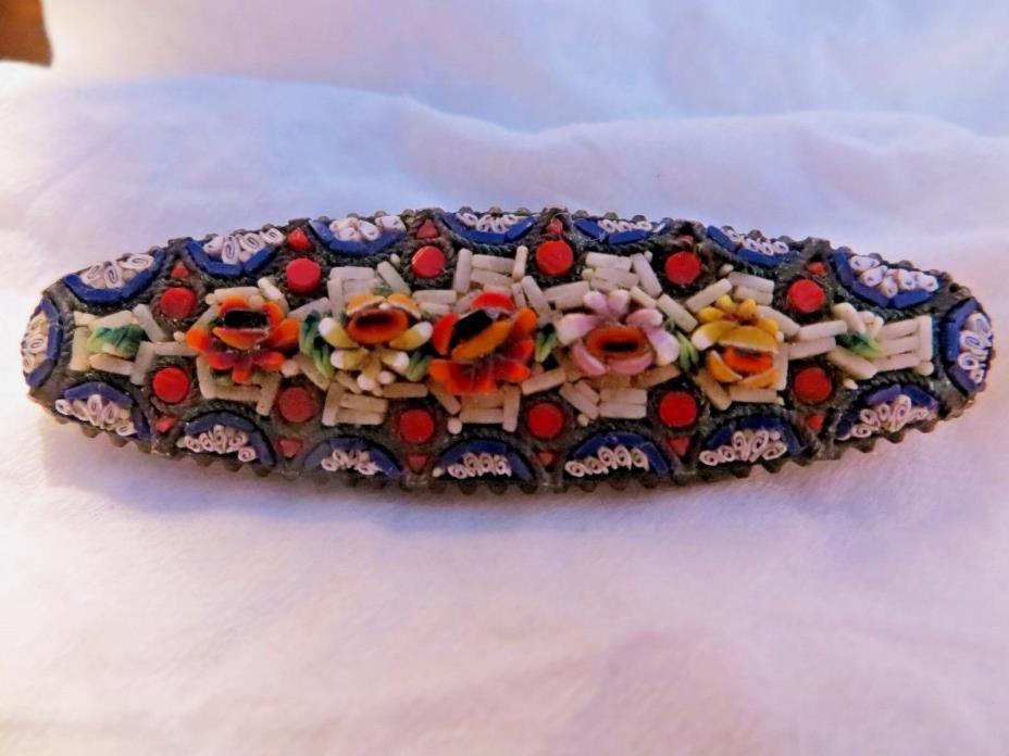 Antique Italian Mosaic Brooch/Pin LRG  - No missing Mosaics