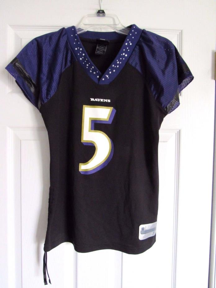 Baltimore Ravens Womens Joe Flacco Black Jersey Small S