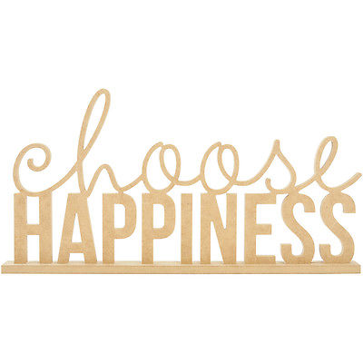 Beyond The Page MDF Choose Happiness Phrase-19.75