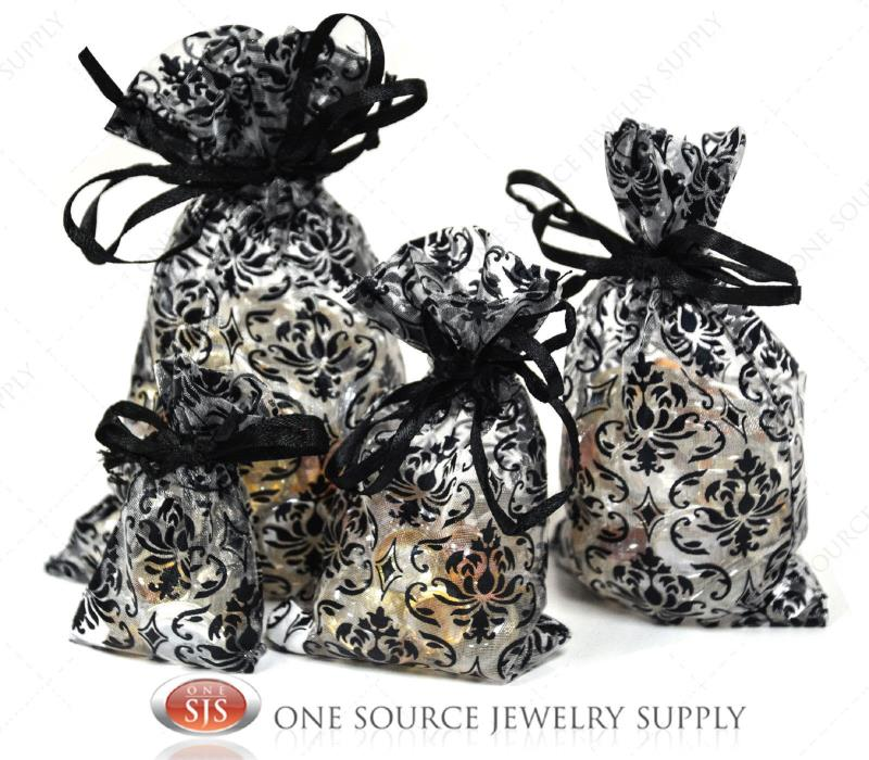Lots Of 12~24~36~48 Damask Organza Pouches Jewelry Gift Pouch Gift Bag Pouches
