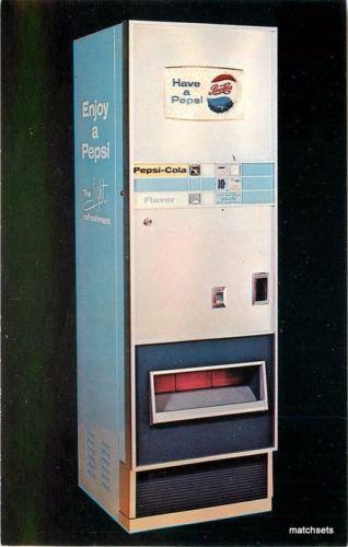 1960s Pepsi Vending Machine Advertising Choice Vend New Haven Connecticut 3078
