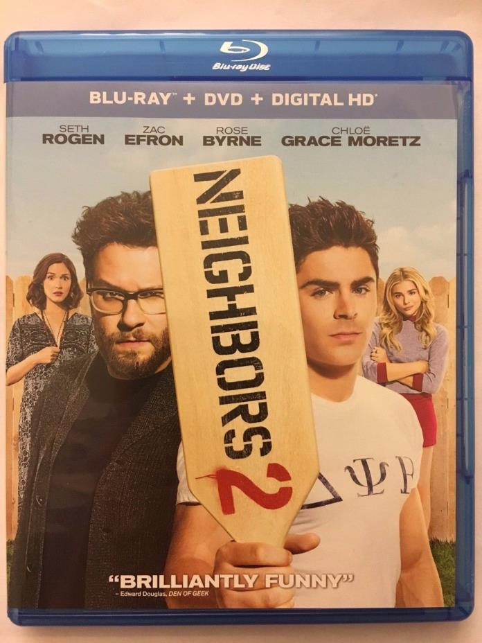 Neighbors 2 (Blu-ray Disc ONLY) w/ ARTWORK + CASE! NEVER VIEWED! SEE DETAILS!