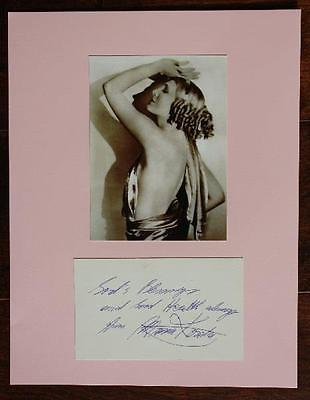 1950-60s Era B-Movie star Maria Korda signed autograph & photo set-Died in 2007!