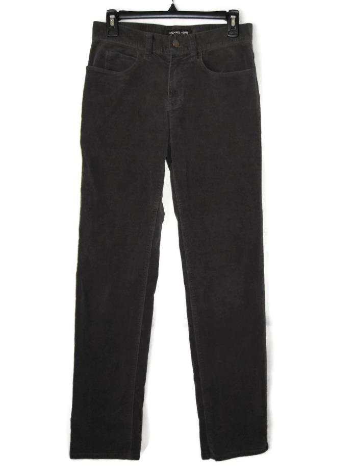 MICHAEL KORS Corduroy Slim Fit Pants Size 28 Stretch Gray