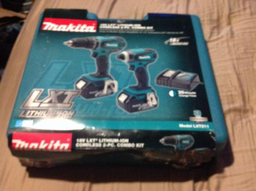 MAKITA MAKITA LXT211 18V 2PC LITHIUM-ION COMBO KIT New In The Box