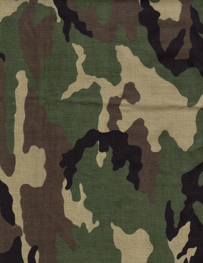 Fabric Green Camo Camouflage 2 3/4Yd 45