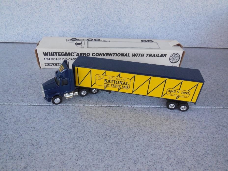NEW OLD STOCK / ERTL 1/64 NATIONAL TOY TRUCK FAIR SEMI TRACTOR TRAILER / 9585