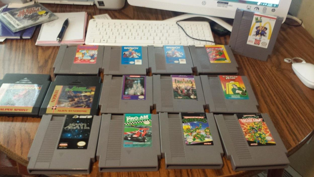 nintendo nes lot...14 great nes games condition great condition check pics..