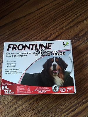 Merial Frontline Plus 6 Pack For Dogs 89 - 132 lb