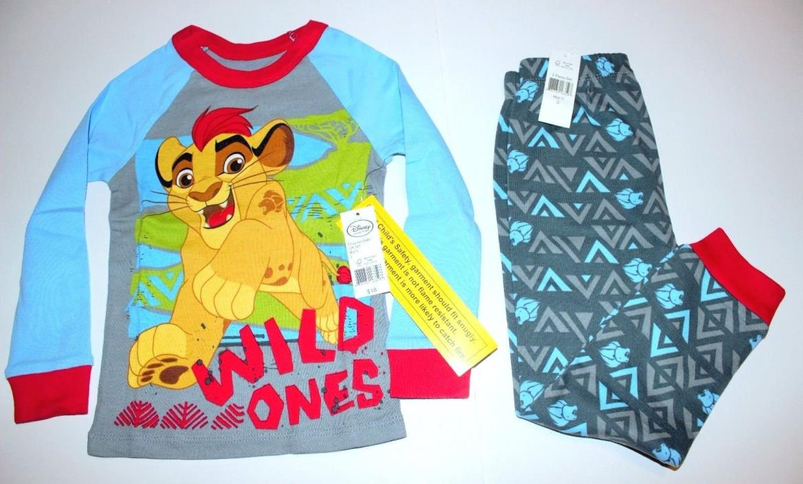 Boys 3T Lion Guard Pajama set 2 pc pajamas Basic Cotton PJ set NWT