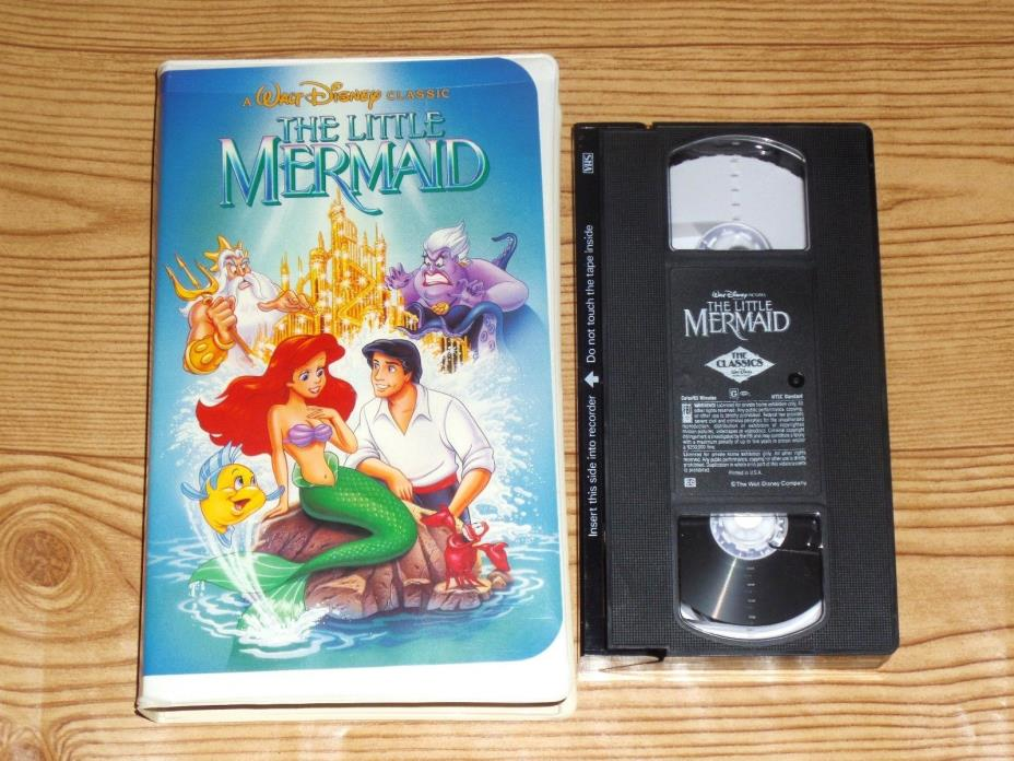 The Little Mermaid Black Diamond VHS Disney W/Inserts Proof Banned Cover RARE