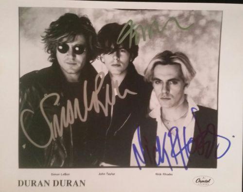 Duran Duran autographed inperson 8