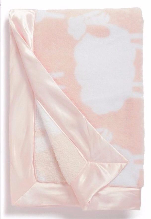 NORDSTROM BABY Print Plush Blanket- Pink Sheep