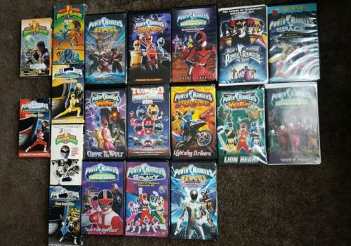 lot of 19 VHS vintage Power Rangers movie tapes action vintage