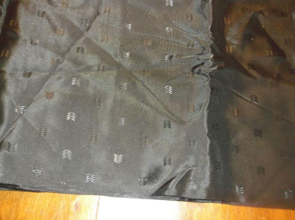 vtg acetate blk/w/design sewing fabric, 2 1/2 yds 45 w