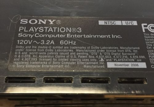 Games - Playstation 3 PS3 Video Game Console For Parts or Repair - AS IS