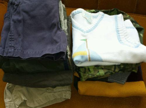 LOT 3T BOYS 7 ITEMS The CHILDREN'S PLACE 3 T pants shorts camo PJ'S sweaters EUC