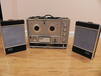 Sony TC-540 Reel to Reel Tape Player Recorder With Microphone