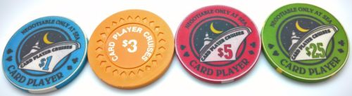 208 Card Player Cruises Ceramic Poker Chips Set Chipco With Wood Case