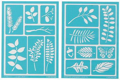 Martha Stewart Adhesive Stencils 2/Pkg-Leaves 5.75