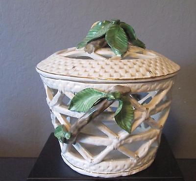 Vintage Italian  Capodimonte Basket