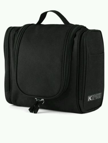 Kipozi Hanging Toiletry Black Bag NEW