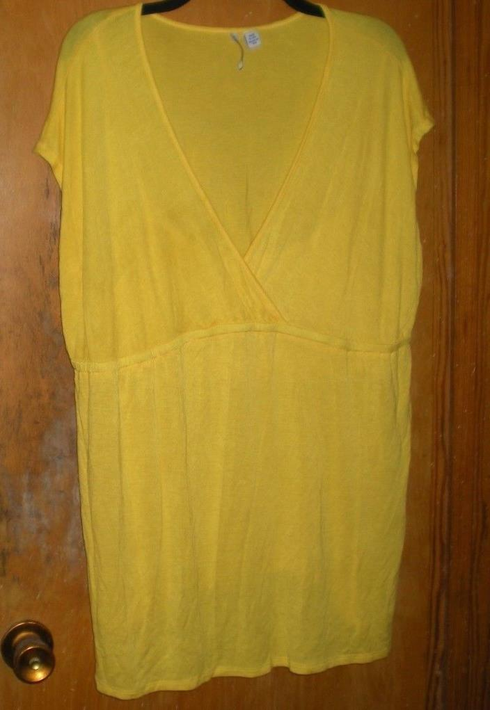 Planet Motherhood Yellow Short Sleeve Maternity Top Size 2X