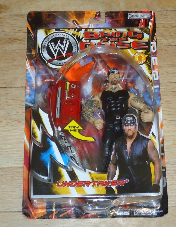 2003 WWF WWE Jakks Undertaker Bring the Noise Wrestling figure MOC Wal Mart