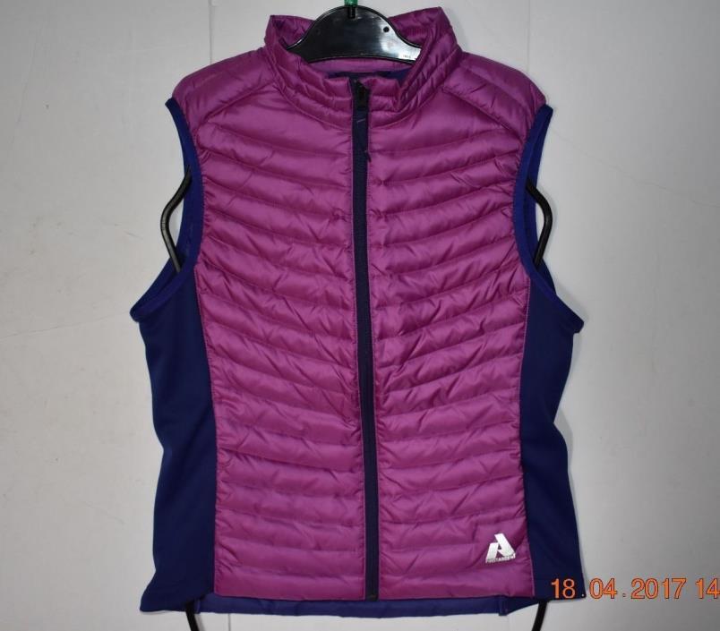 Eddie Bauer First Ascent Down Winter Puffy Vest Girls Size XL (14) Purple