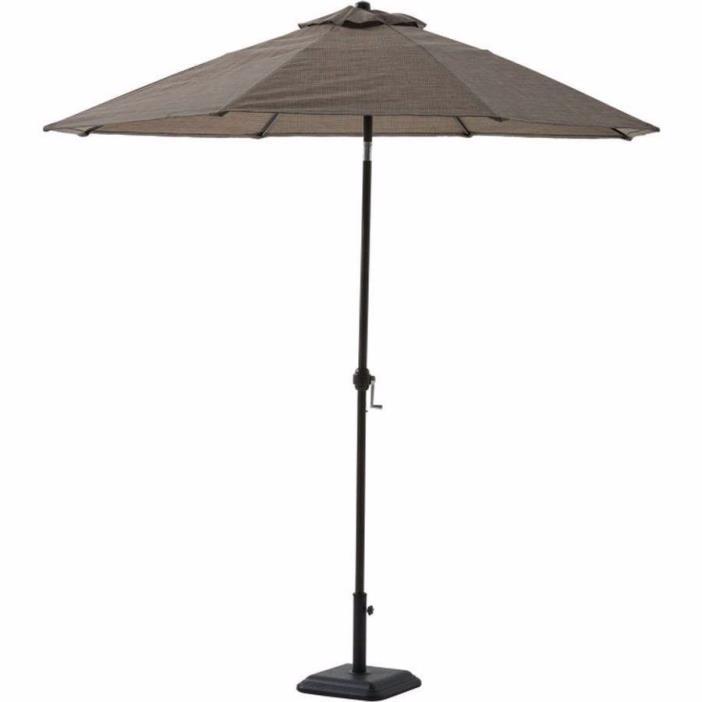 Bristol Springs 8' Sling Umbrella Grey Outdoor New Patio Shade Metal Tilt Grey