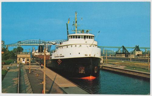Senator of Canada Carrier Ship at The Soo Locks, Sault Ste. Marie, Michigan