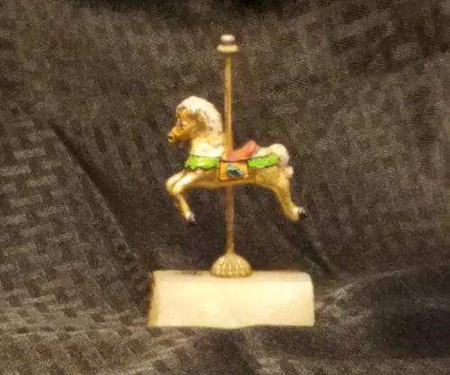 Rare Judi Originals of California 24K Gold Plated, Hand Painted, Signed Carousel