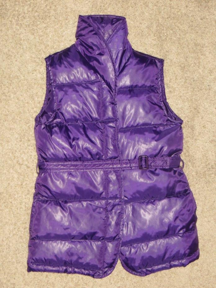 EUC Gymboree Dance Team Purple Puffer Vest Size L 10-12 Large