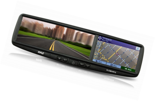 Pyle Car Vehicle Rearview Backup Camera & Mirror Monitor System with Built-in GP