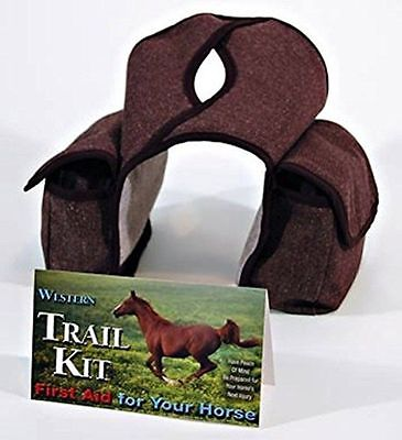 Western Trail Kit First Aid Kit with Case Travel Horse Gauze Bandages Swabs