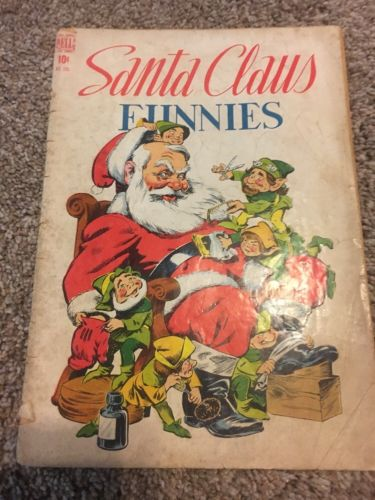 SANTA CLAUS FUNNIES Four Color FC 205 Walt Kelly art / story Dell 1948