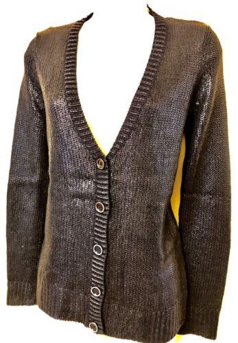 Jones New York Black Shimmery Cardigan Small $129