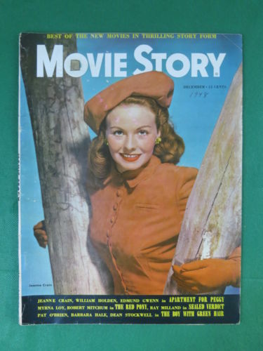 MOVIE STORY Magazine JEANNE CRAIN Cover December, 1948 Vol. 26, No. 176