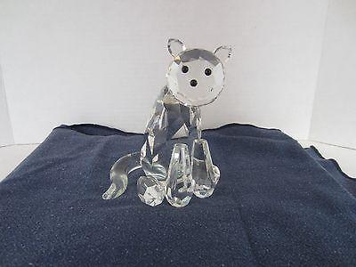 Shannon Crystal Large Cat Figurine