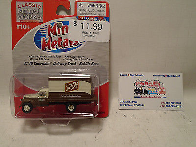 CLASSIC METAL WORKS #30300 HO SCALE 1941/46 CHEVY DELIVERY TRUCK SCHLITZ NEW