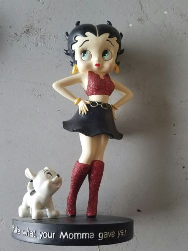 Betty Boop Resin Bobbie Figurine Shake What Your Mama Gave Ya Red #20063 New